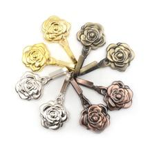 Curtain-Strap-Accessories Tiebacks Buckle Wall-Decorative Metal 1-Pair Rose-Flower