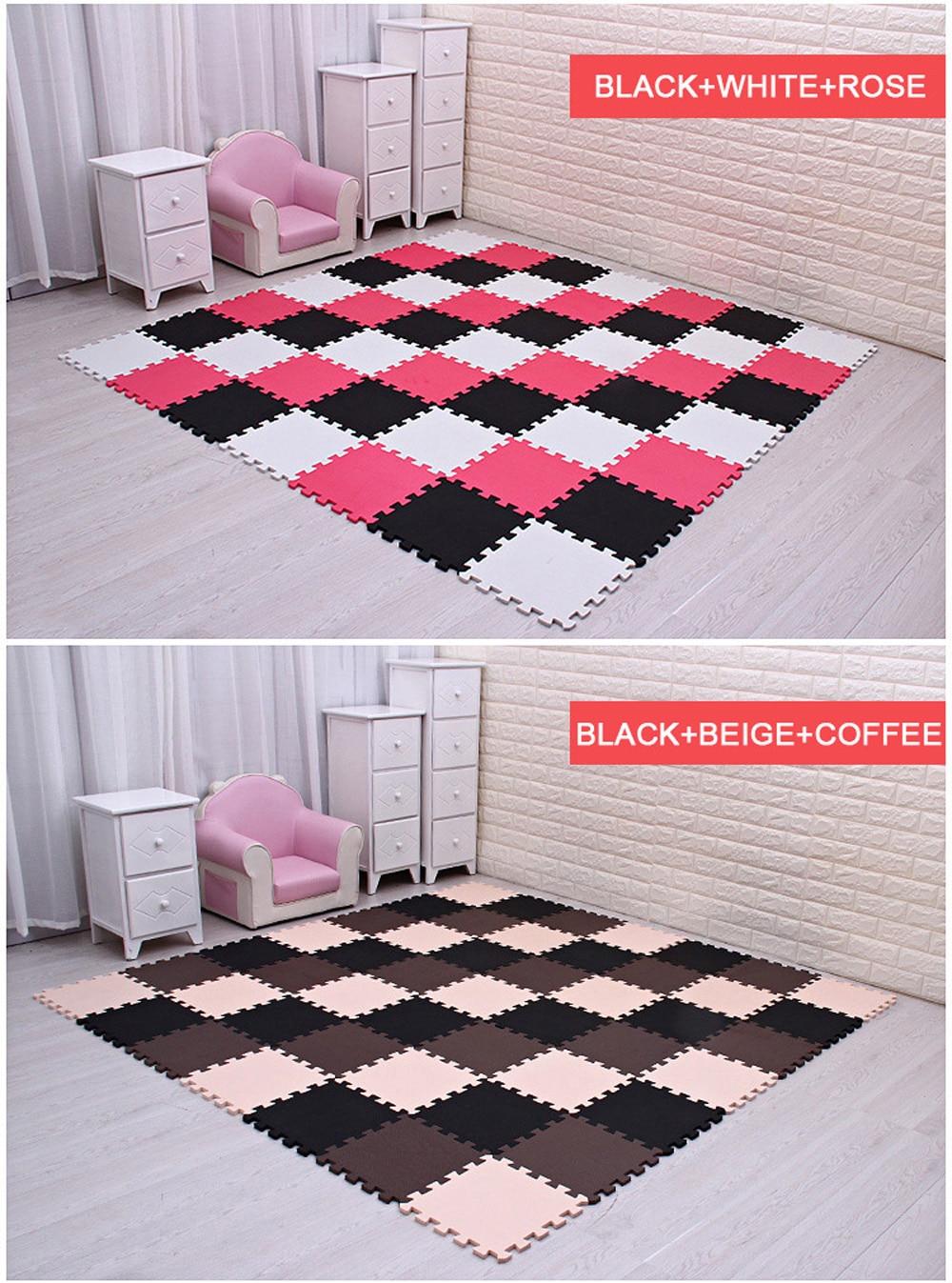 HTB1JWC5jC8YBeNkSnb4q6yevFXaa Newest 9/18pcs/set EVA Children's Foam Carpet Mosaic floor Puzzle Carpet Baby Play Mat Floor Developing Crawling Rugs Puzzle Mat