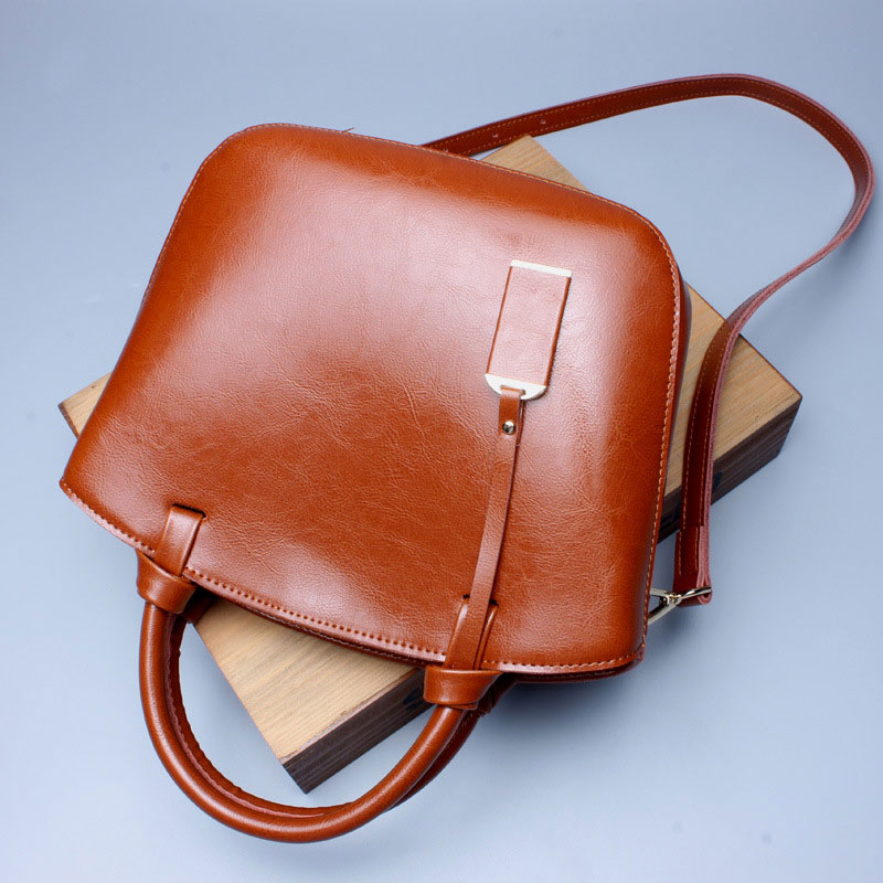 купить FoxTail & Lily Genuine Leather Women Vintage Tote Shoulder Bags Luxury Handbags Famous Brand Designer Crossbody Bag High Quality недорого