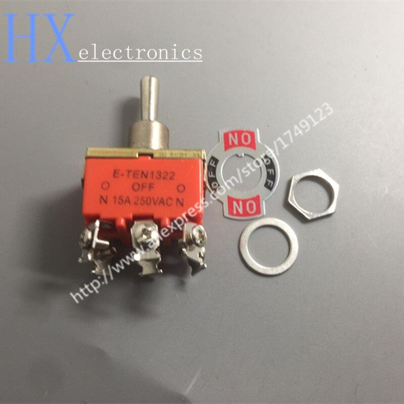 Free Shipping 1PCS E-TEN1322 Toggle Switch 6 Pin Head 3 Grade Pole Double Throw