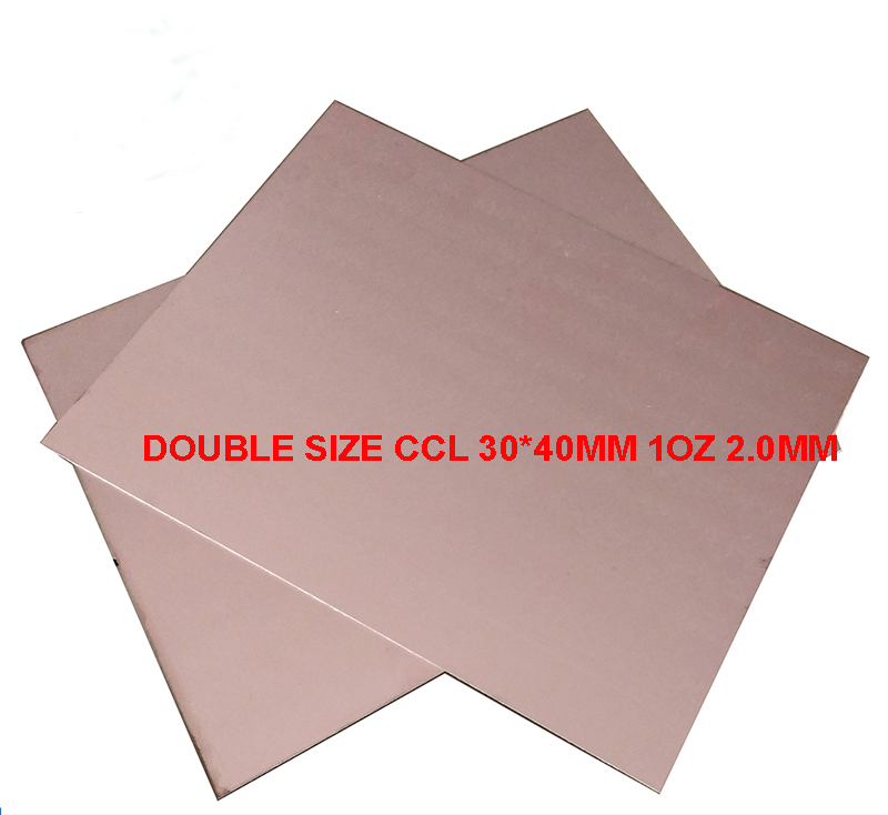 Free Shipping 2pc Double Side Copper Clad Laminate 30*40cm 1oz 2mm CCL Use For Making PCB Paper Base