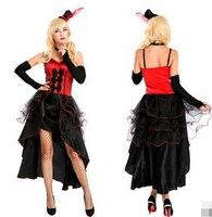 Pavão é cantora de boate estágio roupa tiro jogo rainha trajes de Halloween ocidental