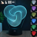 Maserratula rope 3D Night Light RGB Changeable Mood Lamp LED Light DC 5V USB Decorative Table Lamp Get a free remote control