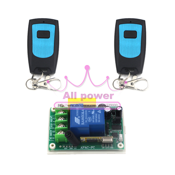 Single 220V household power switch wireless remote control switch ...