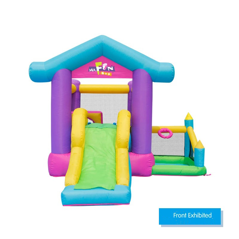 HTB1JWC PpXXXXc6aXXXq6xXFXXXQ - Mr. Fun Inflatable Bouncy House Big Slide For Kids With Ball Pool, Target, & Obstacle Course With Blower