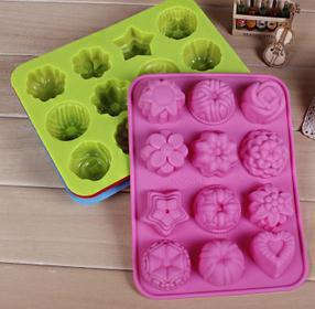 Реальное Новое поступление, инструменты для украшения торта, бытовые товары, посуда для выпечки, 12 цветов в форме лотоса и Желейная форма, пу...