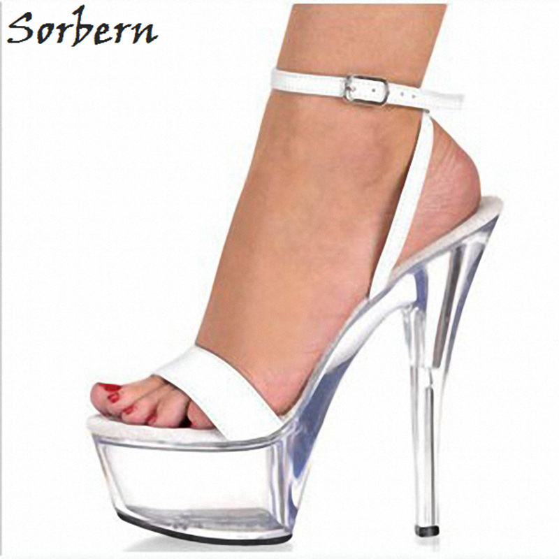 Sorbern Designer Sandals Women Fashion 2019 Ladies Platform Shoes Summer Transparent Heels Sandals Ankle Strap Open ToeSorbern Designer Sandals Women Fashion 2019 Ladies Platform Shoes Summer Transparent Heels Sandals Ankle Strap Open Toe