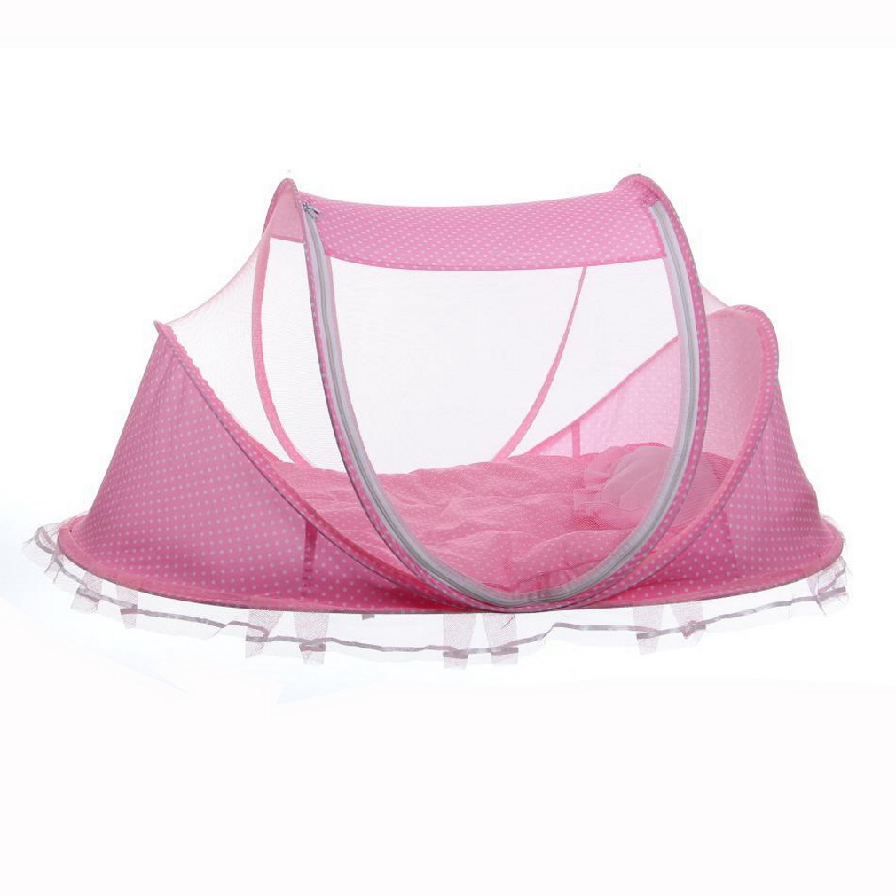 Summer Baby Infants Insect Netting Portable Baby Bed Crib Folding Mosquito Net Infant Cushion Mattress Canopy Mosquito Net Tent baby bed canopy without bottom portable folding baby bed mosquito net children mosquito tent 65 115cm kids outdoor camping tent