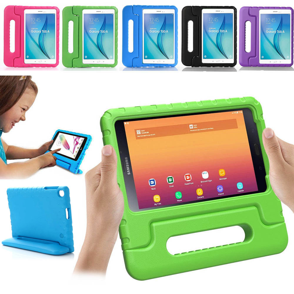 Kids Children Shockproof <font><b>Case</b></font> for <font><b>Samsung</b></font> Galaxy Tab A 10.1 2019 SM-<font><b>T510</b></font> T515 Tablet EVA Foam Protect <font><b>Case</b></font> Handle Stand Cover image
