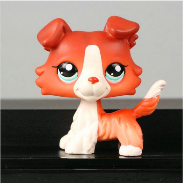 Lps Pet Shop Anime Figure Pvc Brown Red Pink White Dog Model Hot