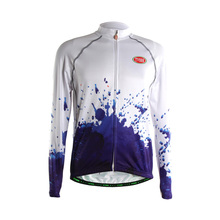 2017 TVSSS Men's Winter Cycling Jerseys China Blue and White Dotted Drops A Custom Special Design Bike Clothes