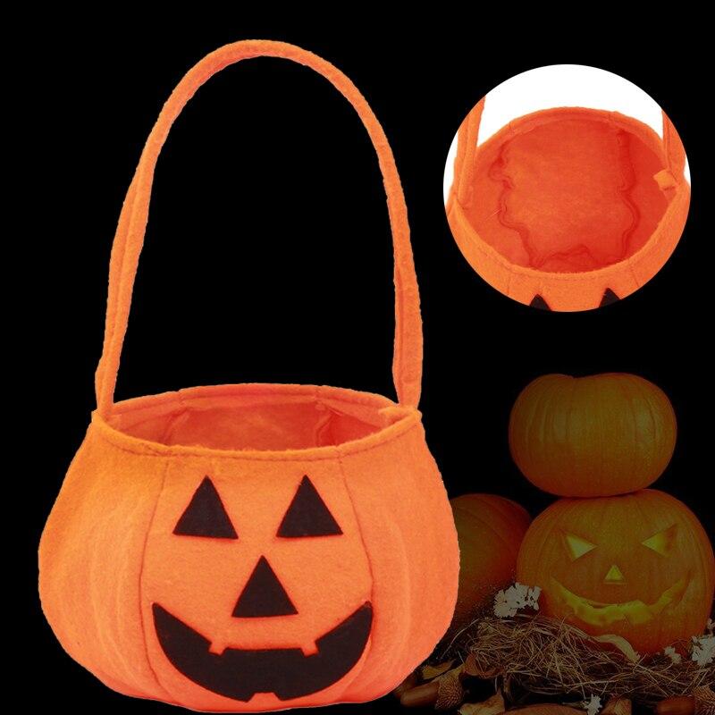 New Funny Halloween Party Supplies Non-woven Fabrics Pumpkin Bags Halloween Props Kids Toys Candy Bag #250789