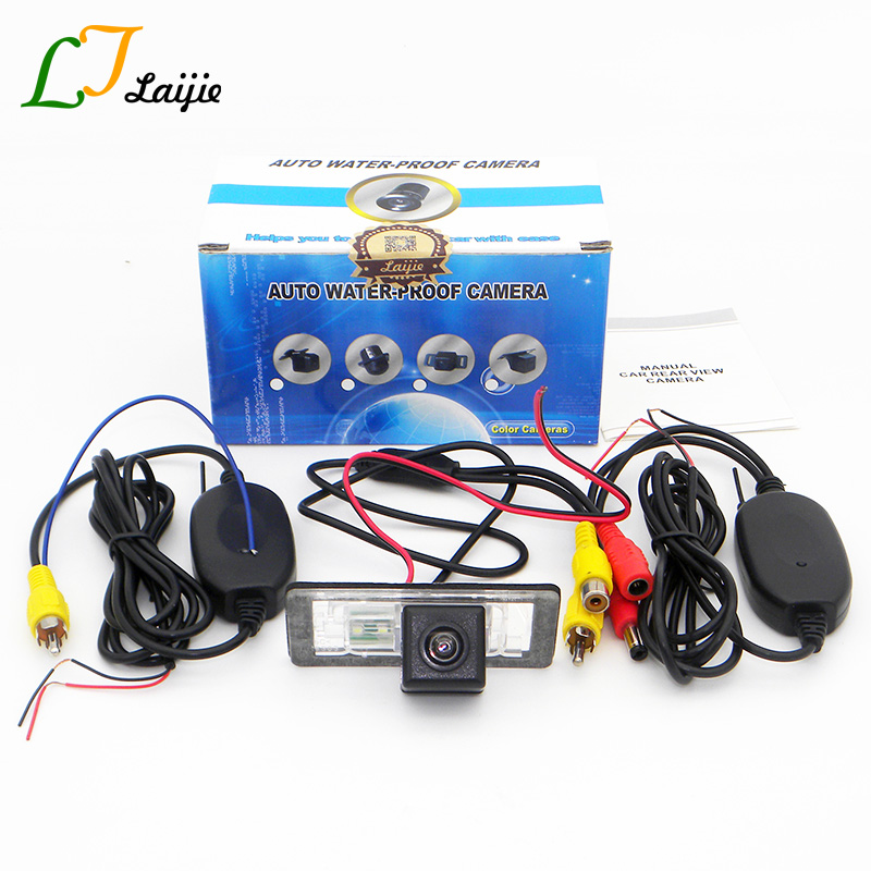 Laijie HD Car Rear View Camera For Audi A4 S4 RS4 B8 / TT TTS 2008~2016 / Wireless Wide Lens Angle Auto Reversing Parking Camera