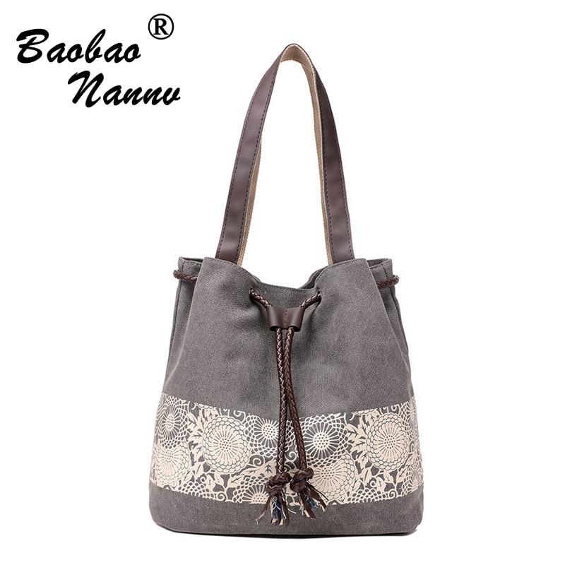 Spring Summer Bucket Bag Drawstring Shoulder Bag Cross Body Bag National Beach Handbag