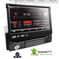 Универсальный 1 din Android 9 4 ядра dvd плеер gps Wifi BT Радио BT USB 32 GB SD 16 GB Встроенная память 4G SIM сети LTE SWC RDS CD OBD2