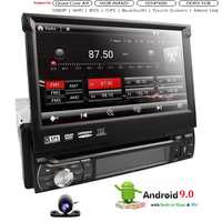 Universal 1 din Android 9 Quad Core Auto DVD player GPS Wifi BT Radio BT USB 32 GB SD 16 GB ROM 4G SIM LTE Netzwerk SWC RDS CD OBD2