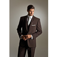 font b men b font slim fit font b suits b font groom tuxedo brown
