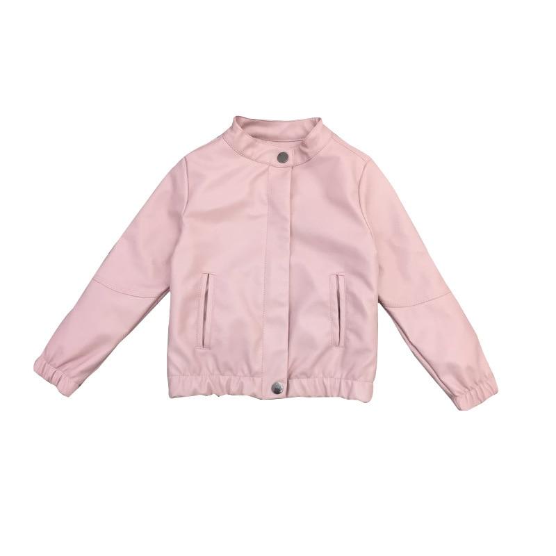 Children Leather Coat 2018 Spring Boys Girls Children Thickening Warm Coat Winter Jacket Button Windbreaker Leather Jacket 3-10T