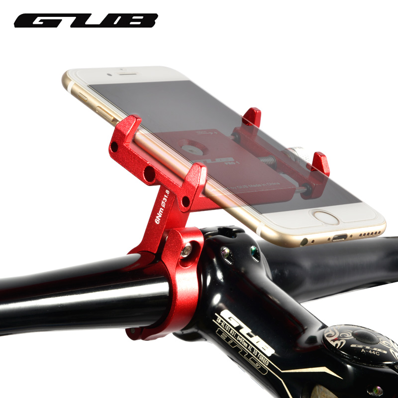 GUB PR01 Aluminum Bike Phone Holder For 3.5-6.2 inch Smartphone Adjustable Universal Support GPS Bike Phone Stand