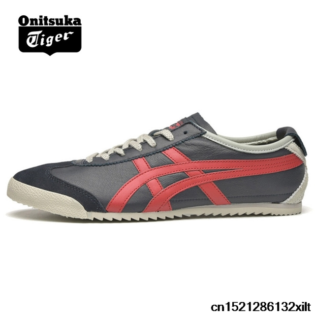 size 40 2a0d4 bef06 US $69.73 |ONITSUKA TIGER MEXICO 66 Men's Women Shoes Sheepskin leather  Dark Unisex Low Classic Sneakers Badminton shoes-in Badminton Shoes from ...