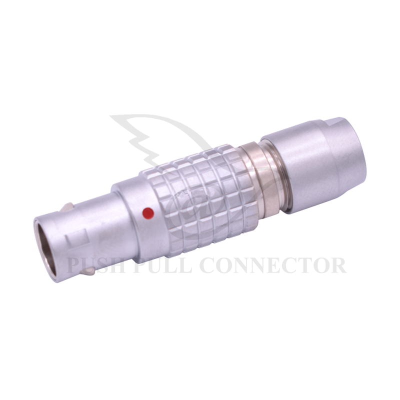 LEMOs Connector FGG 2 3 4 5 6 7 9 Pin , M9 Metal Brass Push Pull Self-locking Plug , Without Strain Relief