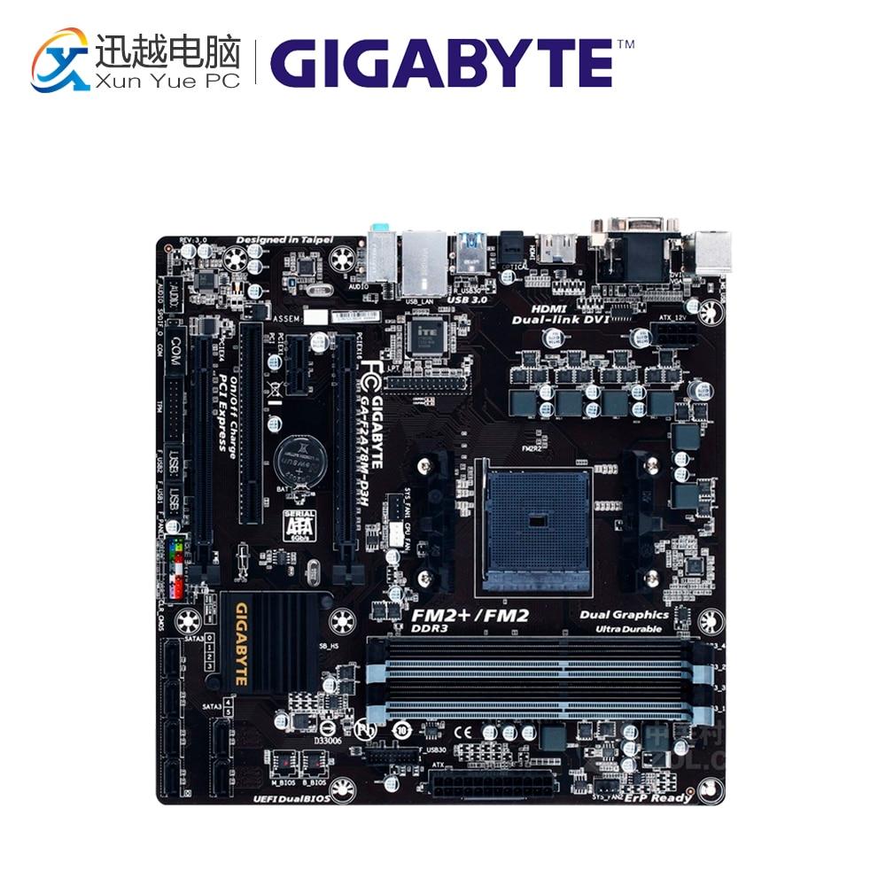 все цены на Gigabyte GA-F2A78M-D3H Desktop Motherboard F2A78M-D3H A78 Socket FM2+ DDR3 SATA3 USB3.0 Micro ATX