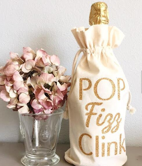 gold pop fizz clink wine bags hostess host thank you gifts champagne party