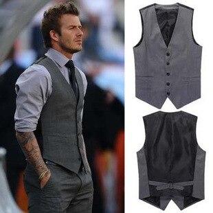 New British style Men's Fashion Joker Trend Waistcoat Leisure Suit Vest