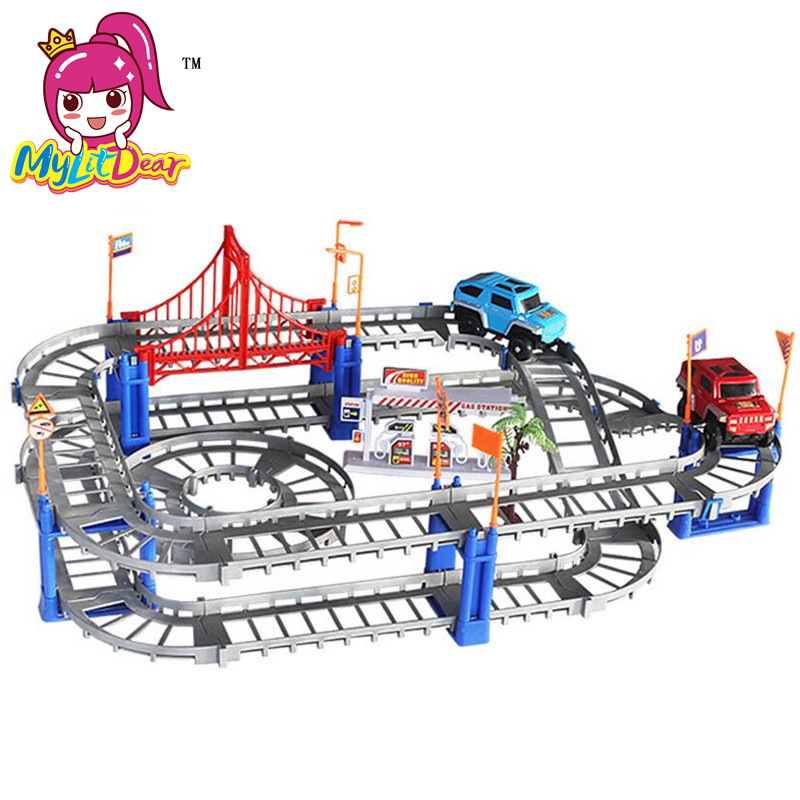 MylitDear New 2 Lodra Colorful Colorful Rail Style Layer Multilayer - Makina lodër për fëmije - Foto 4