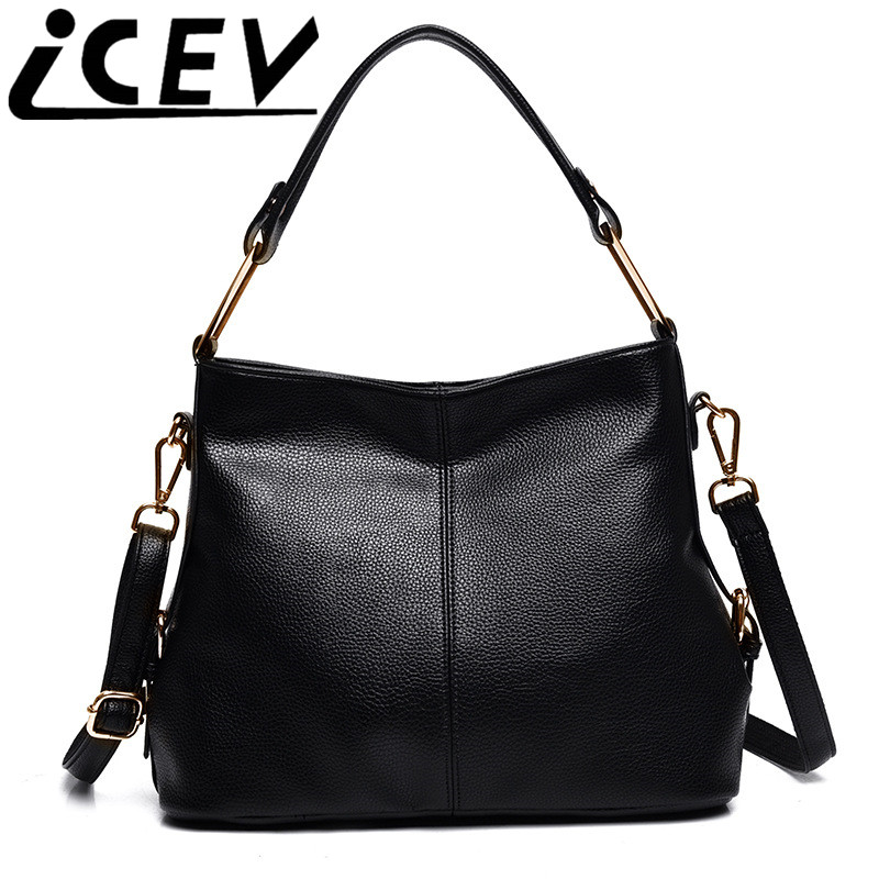 Soft big casual tote shoulder messenger bag designer handbags high quality brand women leather handbag female bag bolsas kabelky icev famous designer brand women leather handbags large capacity shopping bag high quality big black casual tote bag soft bolsas