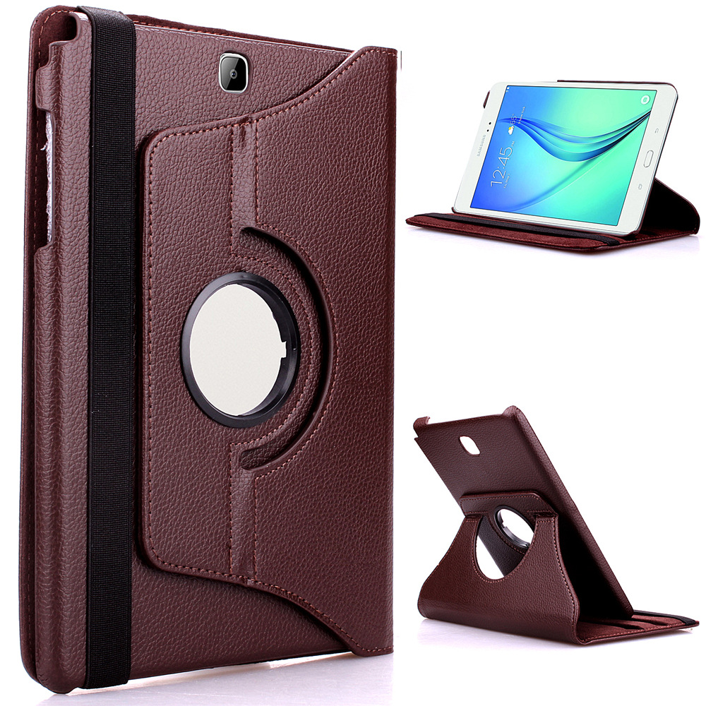 Tab A 9.7 Case Stand Feature Luxury 360 Rotating PU Leather Case Cover For Samsung Galaxy Tab A 9.7 SM-T550 SM-T555 10 pu leather case stand cover for samsung galaxy tab a 9 7 sm t550 t555 p550 9 7 360 rotating tablet smart flip cover sm t550