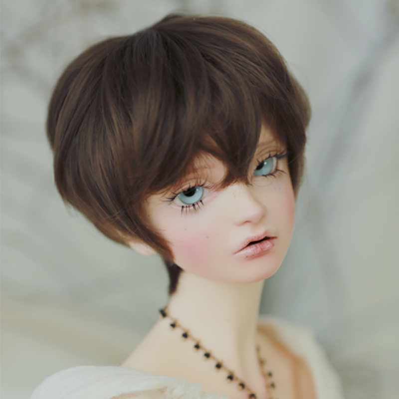 OUENEIFS free shipping wig 9-10 inch 1/3 high-temperature wig boy short hair Air bang sd Wigs with fashion type stylish hair