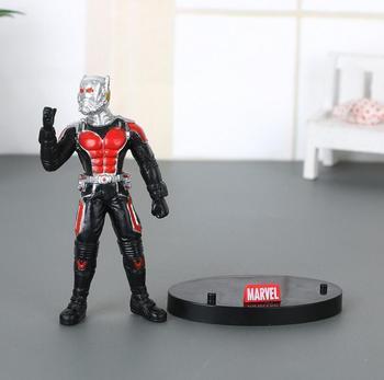 6,5 cm Marvel vengadores hombre hormiga 2 Capitán América 3 guerra Civil PVC figuras de acción de juguete pequeño Antman con placa de juguete de modelos coleccionables