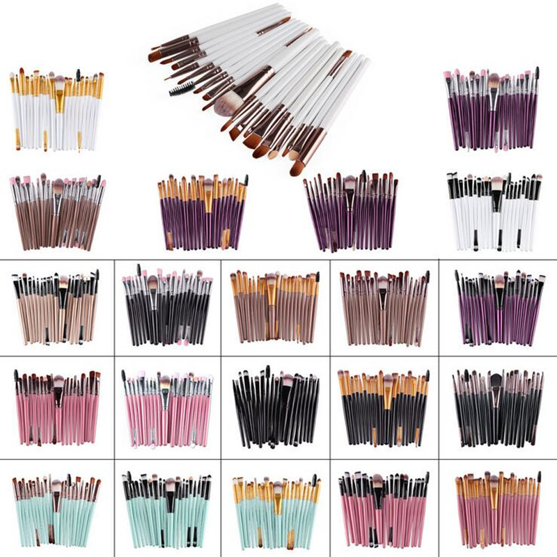 20 Pcs Make Up Eye Brush Set Eye Shadow Foundation Eyebrow Eyeliner Eyelash Lip Brush Makeup Brushes Cosmetic Tools 20 pcs set makeup brushes set eye shadow foundation eyeliner eyebrow lip brush cosmetics tools kits beauty make up brush 2017