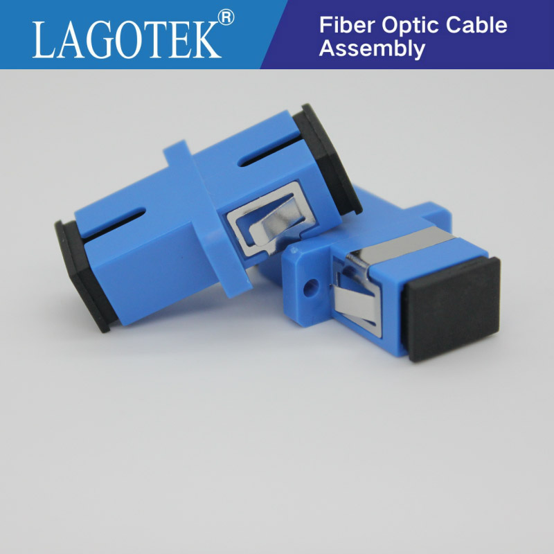 50/100/200/500pcs  SC UPC Simplex Single-mode Fiber Optic Adapter SC Optical Fiber Coupler SC UPC Fiber Flange SC Connector