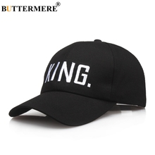 купить BUTTERMERE Embroidery Cap Men Letter Black Baseball Cap Women Cotton Adjustable Long Brim Hip Hop Dad Hats Casual Spring Sun Hat дешево