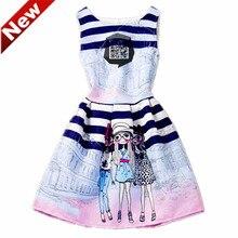 Enfants Costumes Fille Robes Robes Jurken Meisjes Kinderen Bébé Filles Robe D'été D'âge 6-12Y PO6