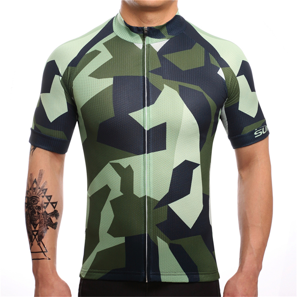 FUALRNY 2018 Quick Dry Cycling Jersey Summer Men Mtb Bicycle Short Clothing Ropa Bicicleta Maillot Ciclismo Bike Clothes #DX-06