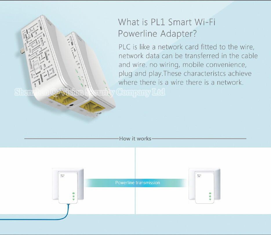 12-UKEUCN Broadlink DNA 200M Wireless WIFI Router Powerline Carrier Extend Wireless Smart Router WIFI Range Extender Automation