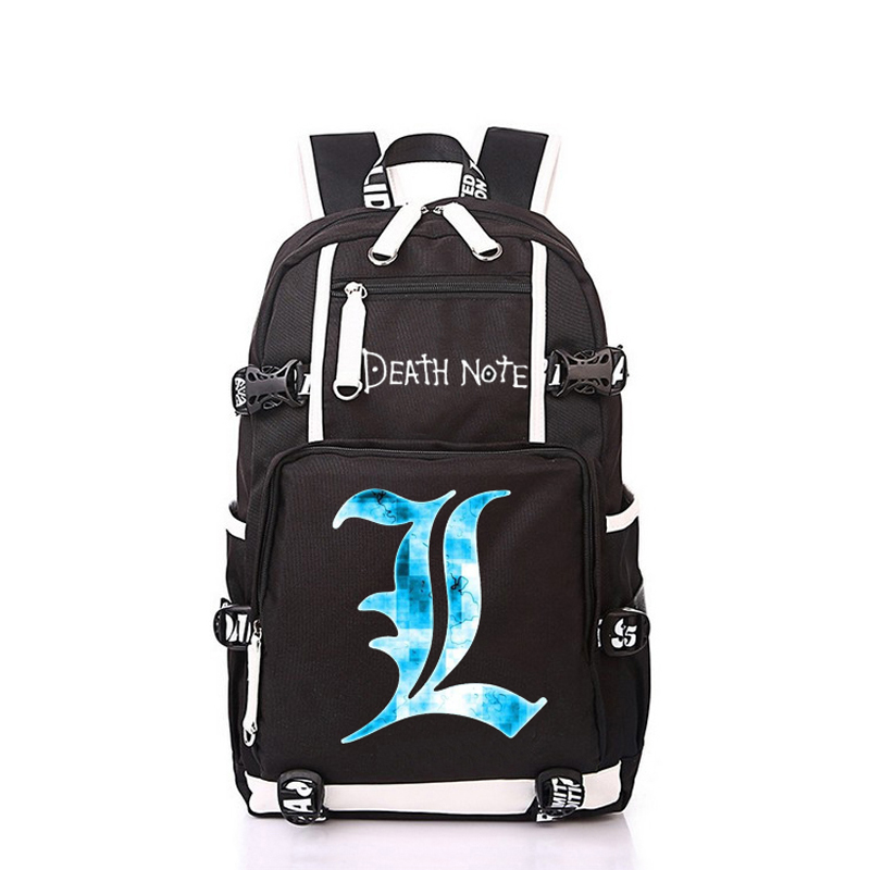 Women Men Anime Cartoon Death Note Backpack Rucksack Mochila Schoolbag Bag For School Boys Girls Student Travel anime cartoon tokyo ghoul cosplay backpack schoolbag one piece gintama school bag rucksack men s women s naruto travel bag