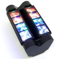 Бесплатная доставка Горячая Распродажа Новый перемещение головы свет мини светодиодный паук 8x6 Вт RGBW Луч света хорошее качество Быстрая до