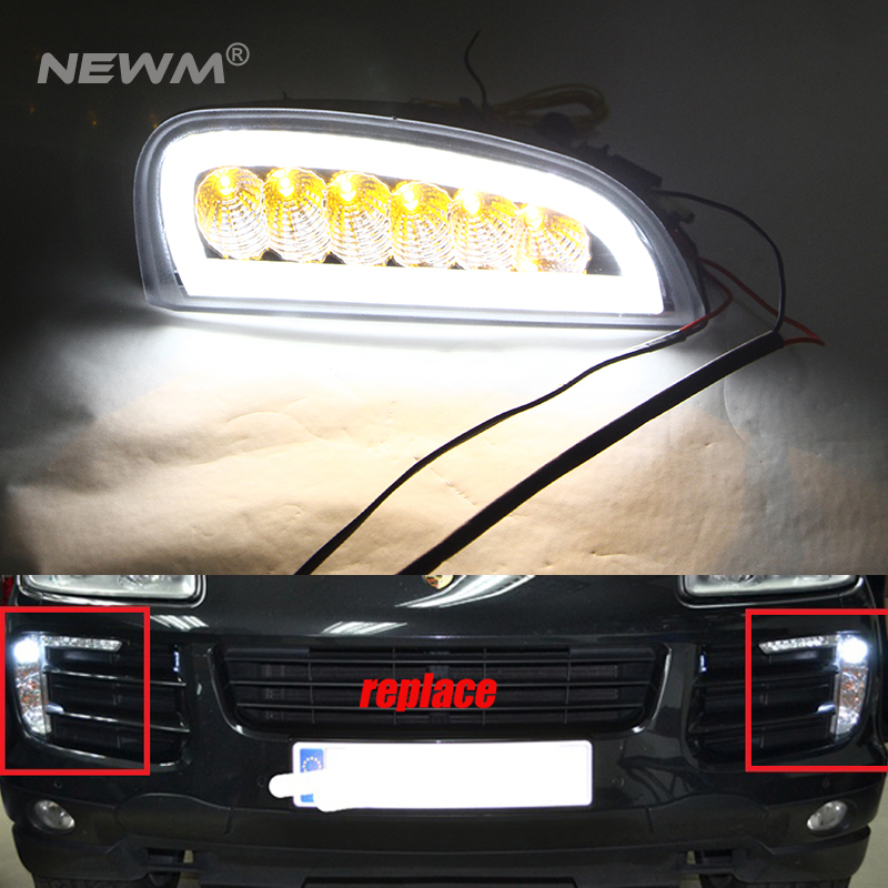 For Porsche LED Driving Light For Porsche Front DRL daytime running light Turn Signal Light For Cayenne 2006 2007 2008 2009 2010