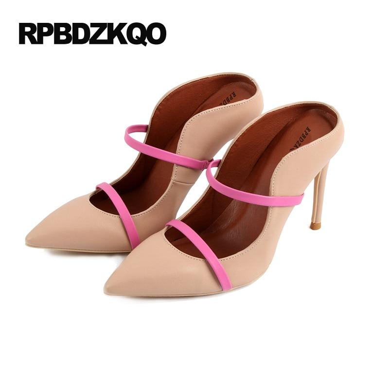 35928cc8633 Detalle Comentarios Preguntas sobre Delgado Zapatos De Mujer Correa Tacones  Altos Anormal 33 Desnudo Sandalias Dedo Punteado Zapatillas 4 34 Talla  Pequeña ...