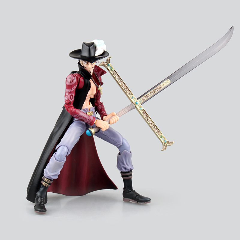 Anime One Piece Figure Monkey D Luffy Roronoa Zoro Dracule Mihawk 18CM PVC VAH Variable HEROES Action Model