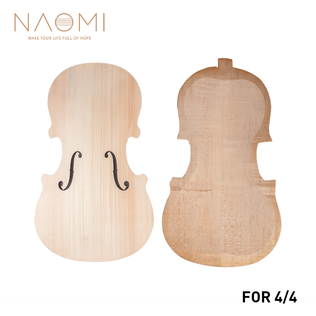 NAOMI Violin Top and Back Unfinished Violin Parts 4 4 Spruce Top And Maple Back DIY
