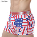Men Underwear Modal Boxer Breathable Sexy Boxers Shorts Trunks Medium Waist Deign Flag Gay Penis Pouch Fashion Boxers 2pcs\lot