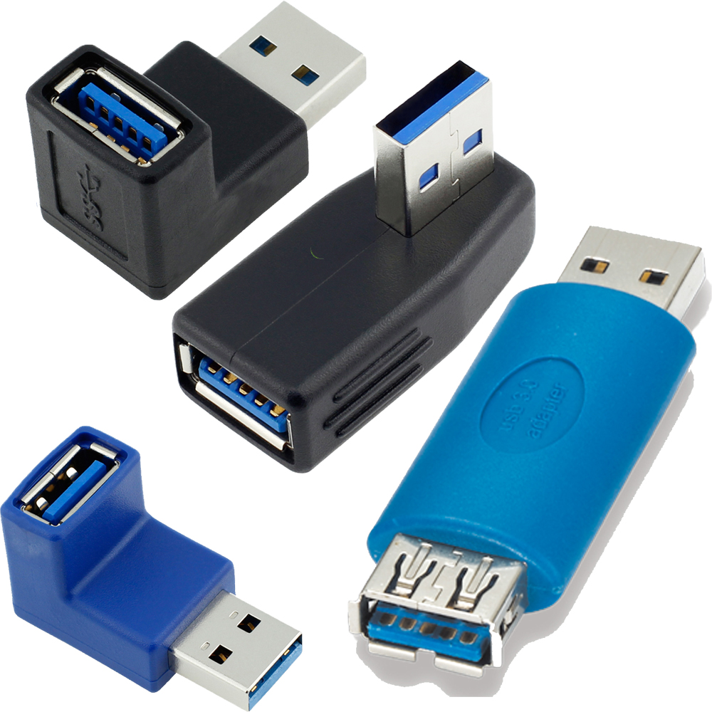 Computer Cables 10Gb//s USB 3.0 A Female Port to Female Adapter USB3.0 AF to AF Connector Converter Cable Length Blue