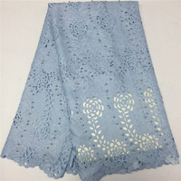 2018 New Arrival White Color Laser Cut Lace Fabric, 2018 Newest Lace Fabric 5Yards, Nice African Lace Sewing GF346 1
