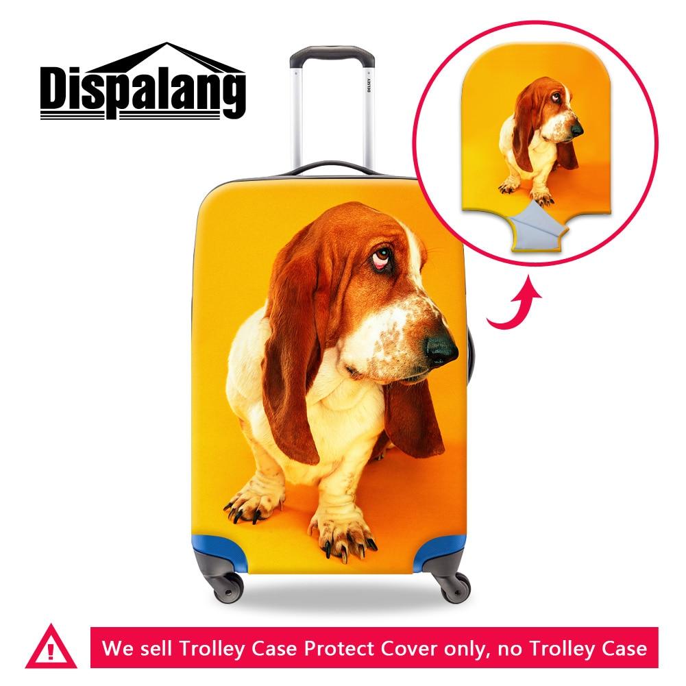 Dispalang 3D Bloodhound защитный чемодан крышка утолщенной Эластичный путешествия аксессуары Новые животных Собака стрейч камера охватывает