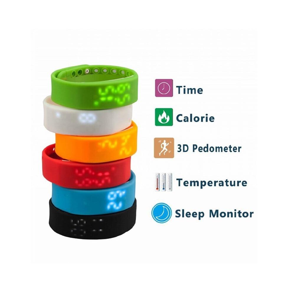 2017 High Quality W2 LED Digital Sports USB WristWatch Silicone Band For Kids Women Men 3D